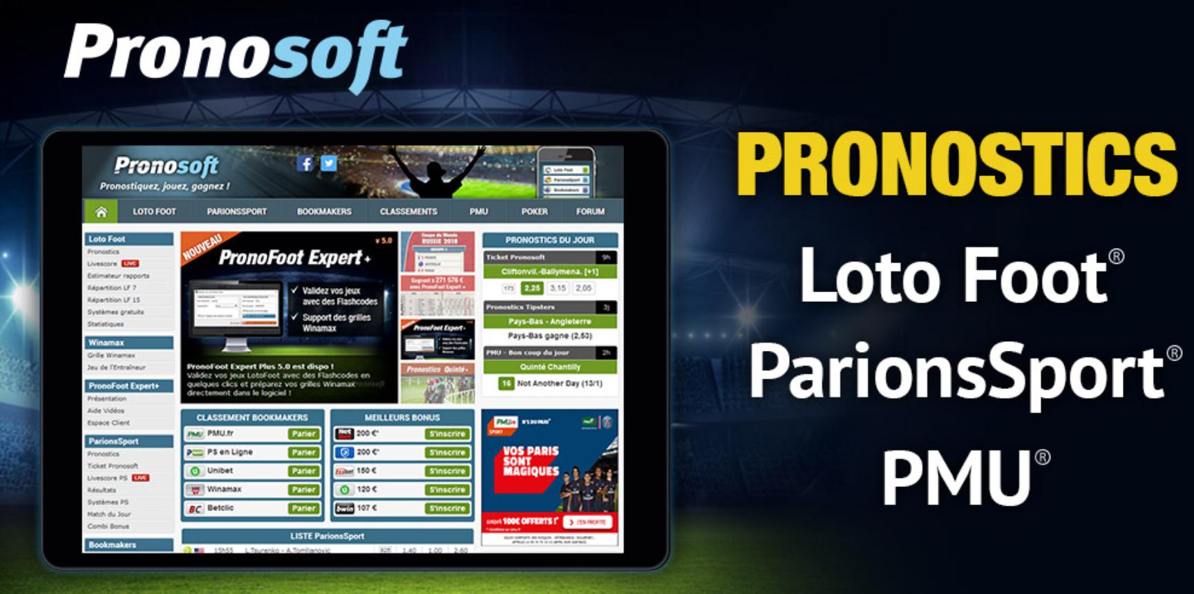 Télécharger Pronosoft: instruction pour les utilisateurs