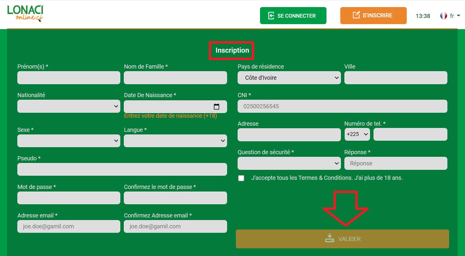 Application Sportcash pour Android